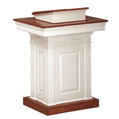 Pastor Pulpit Chairs Rattan Indoor Our Red Oak Colonial Finish Pedestal With