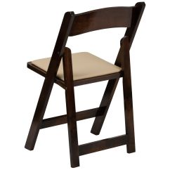 Folding Wood Chairs With Padded Seat Tufted Leather Office Chair Canada Flash Furniture Hercules Series Fruitwood