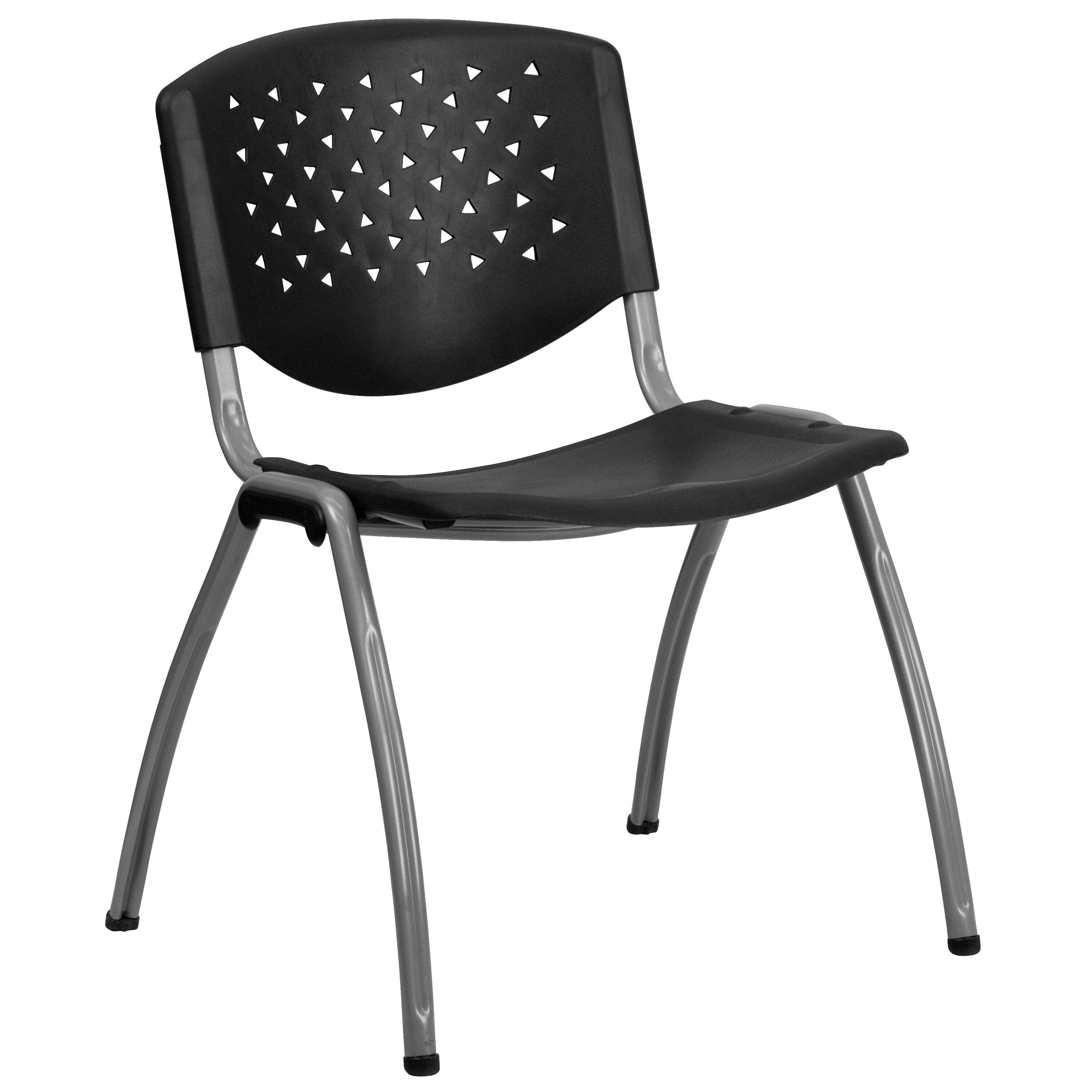 Black Plastic Stack Chair RUTF01ABKGG
