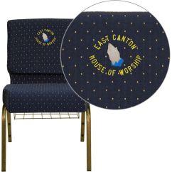 Blue Dot Chairs High Chair Floor Mat Target Fabric Church Fd Ch0221 4 Gv S0810 Bas Emb