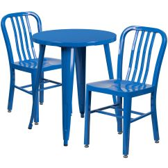 Blue Metal Chairs Red Kitchen Table 24rd Set Ch 51080th 2 18vrt Bl Gg