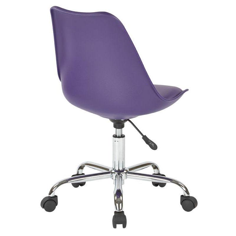 lilac office chair ergonomic mesh desk ave six emerson purple task ems26 512