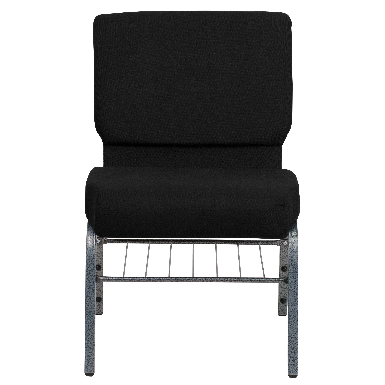 Black Fabric Church Chair XUCH0221BKSVBASGG