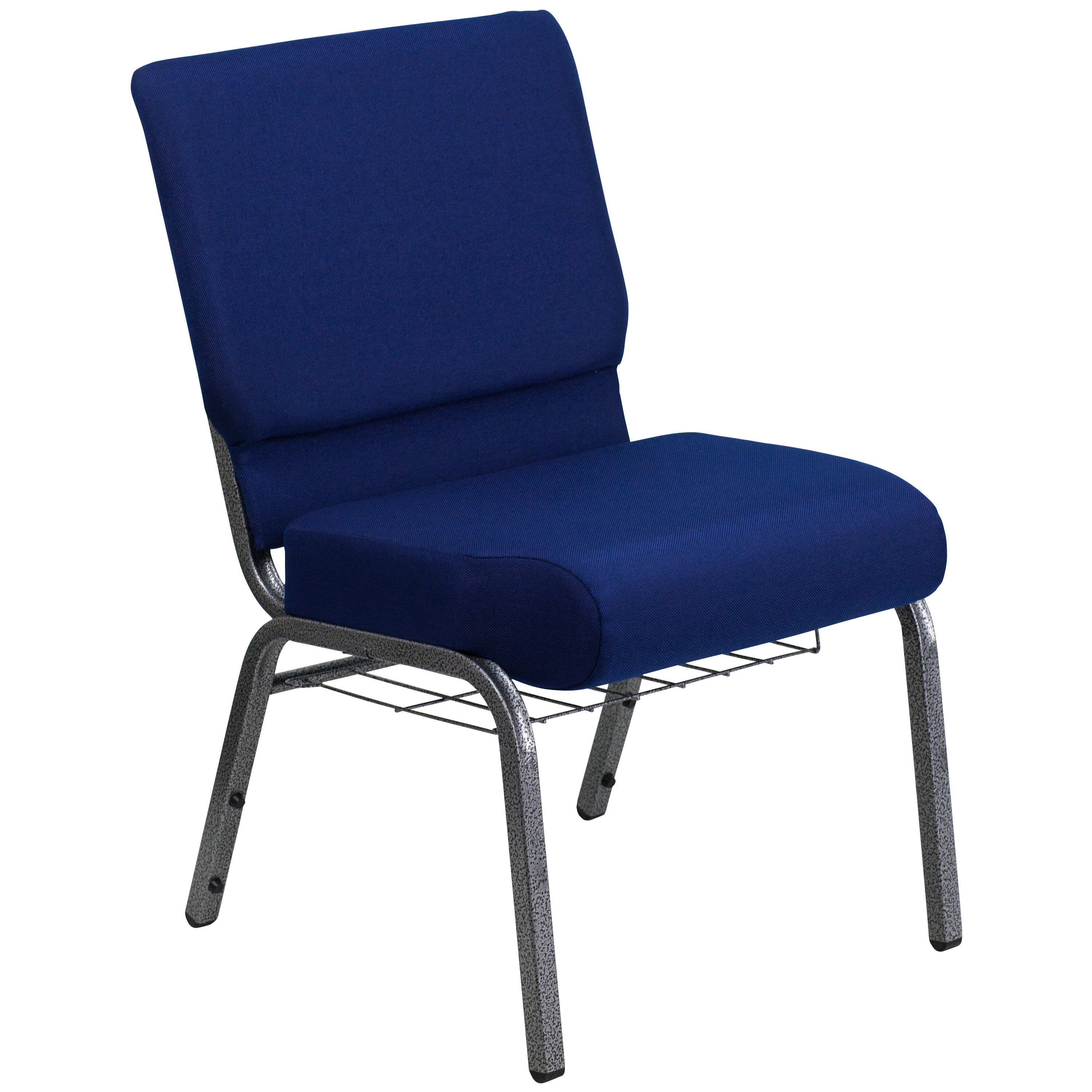 chairs 4 less stackable rolling navy blue fabric church chair fd ch0221 sv nb24 bas gg