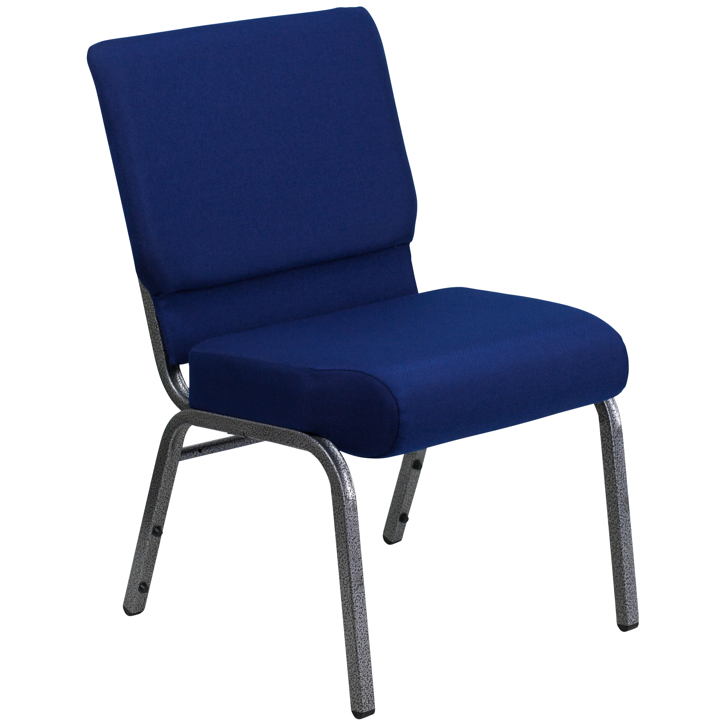 HERCULES Series 21W Stacking Church Chair in Navy Blue