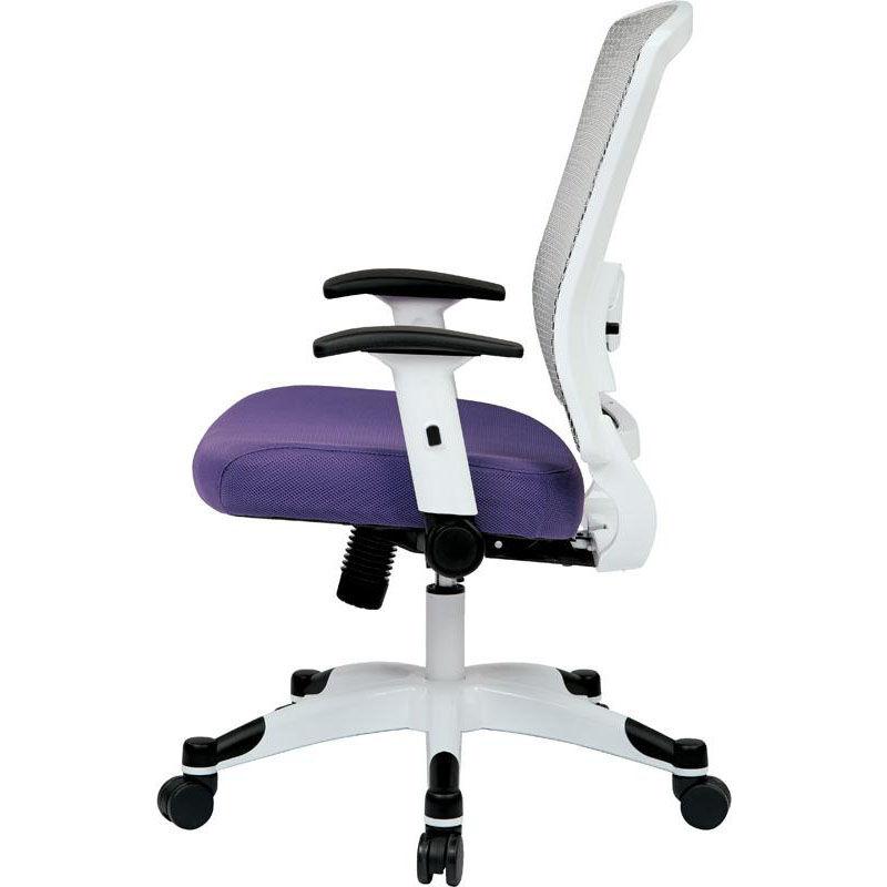 fluffy desk chair swing egypt white padded seat hostgarcia