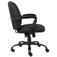Office Chair 300 Lb Capacity Best Looking High Chairs Boss Products Heavy Duty Black