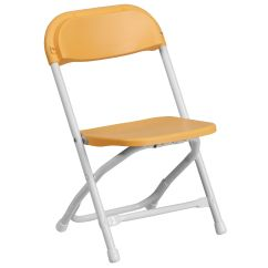 Plastic Kid Chairs Cotton Chair Covers For Weddings Flash Furniture Kids Yellow Folding Y Yl