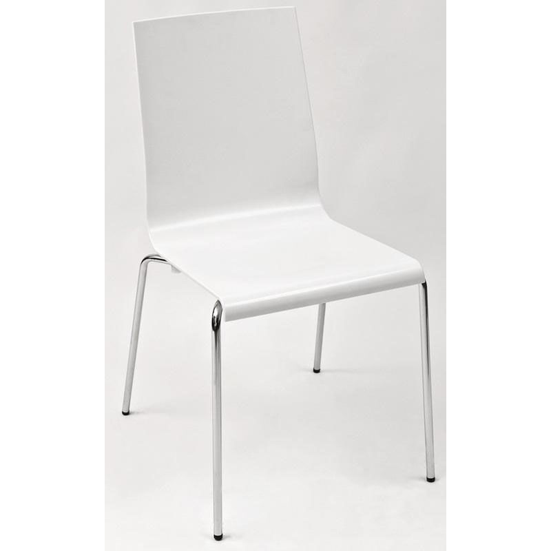 white shell chair brown folding chairs wedding florida seating pedrali stackable indoor
