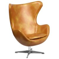 Gold Leather Egg Chair ZB-24-GG | ChurchChairs4Less.com