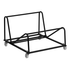 Folding Chair Dolly 50 Capacity Outdoor Double Rocking White Seats 2 Churchchairs4less Stack Chairs Dollies Sled Base