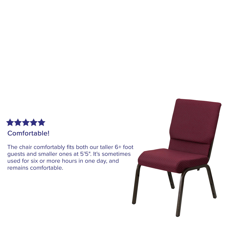chairs 4 less steel chair three seater burgundy fabric church xu ch 60096 byxy56 gg