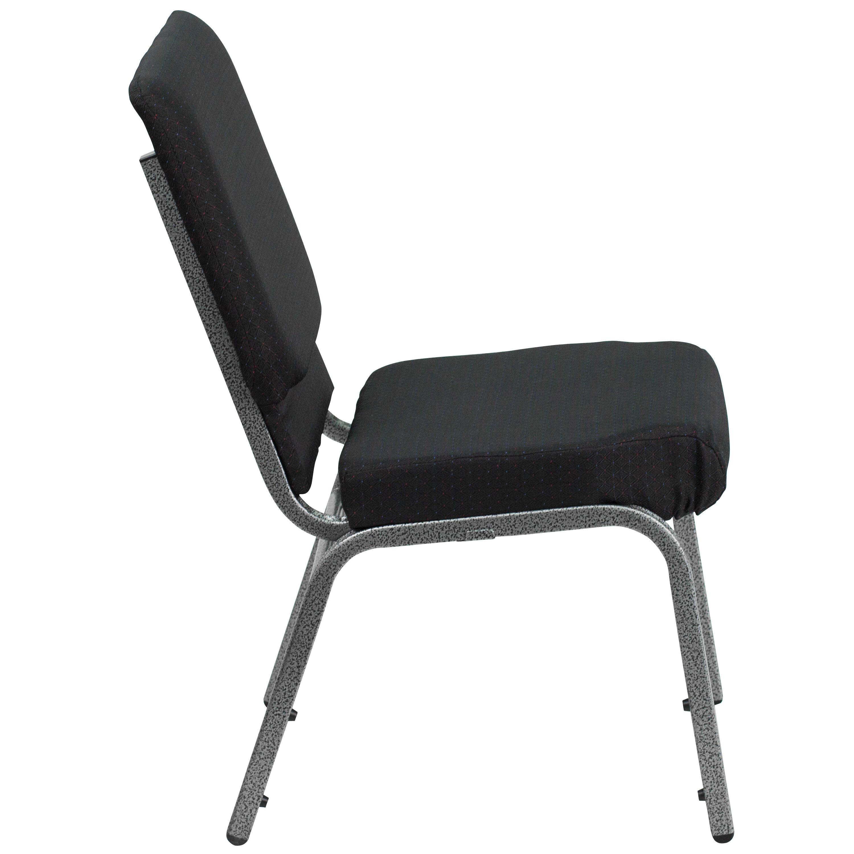 Black Fabric Church Chair FDCH02185SVJP02GG