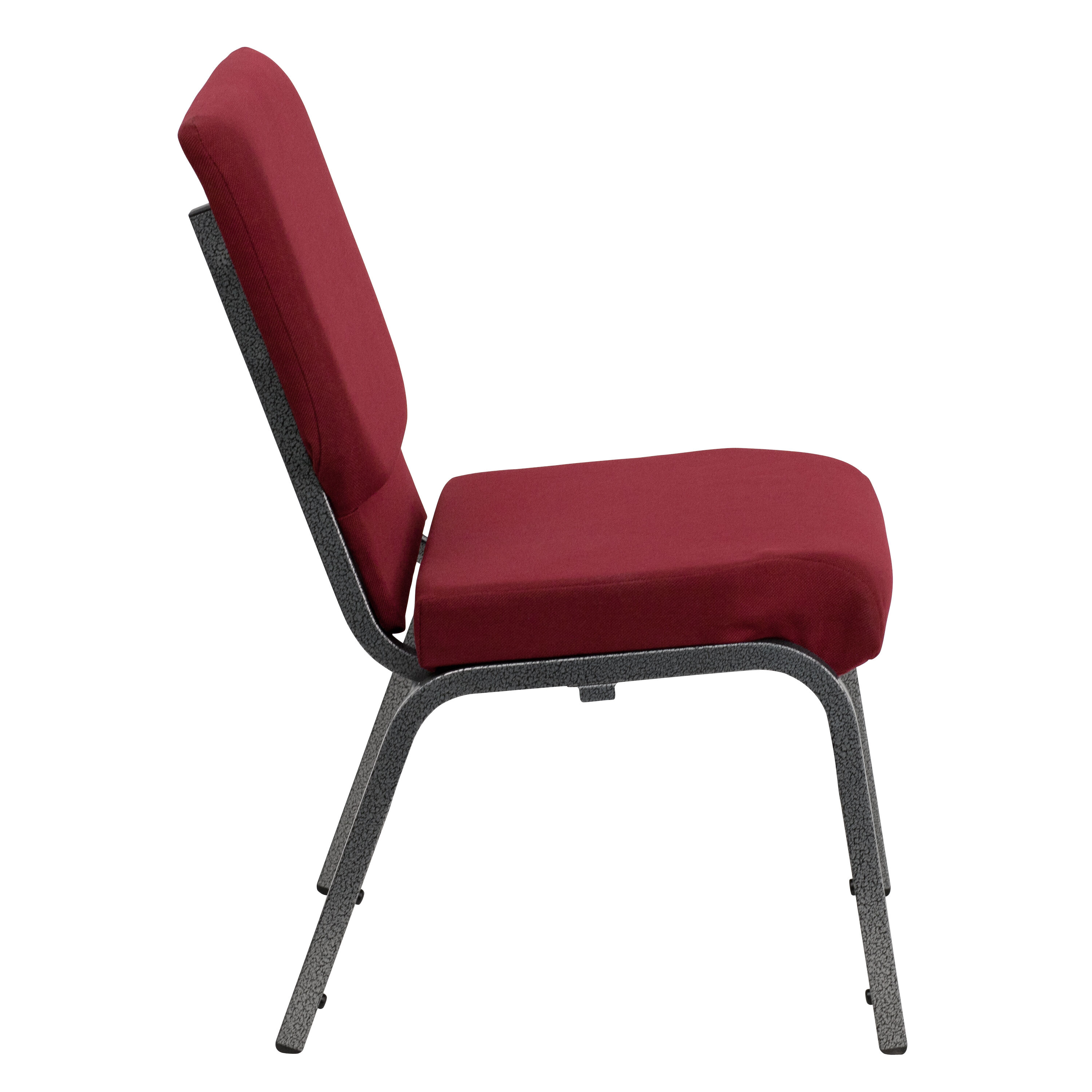HERCULES Series 185W Stacking Church Chair in Burgundy