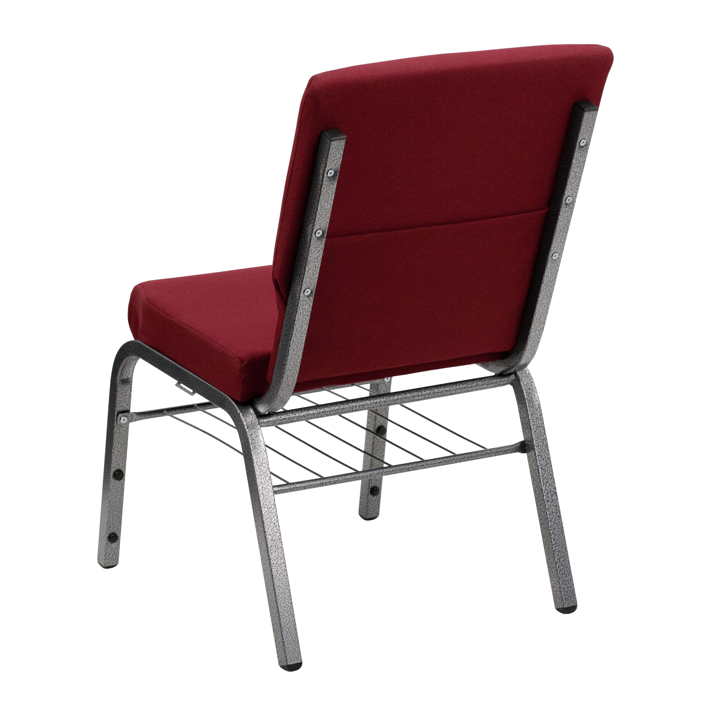 HERCULES Series 185W Church Chair in Burgundy Fabric
