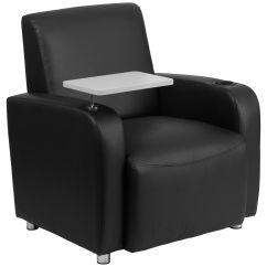 Tablet Arm Chairs Canada Chair Rocker Flash Furniture Black Leather Guest With