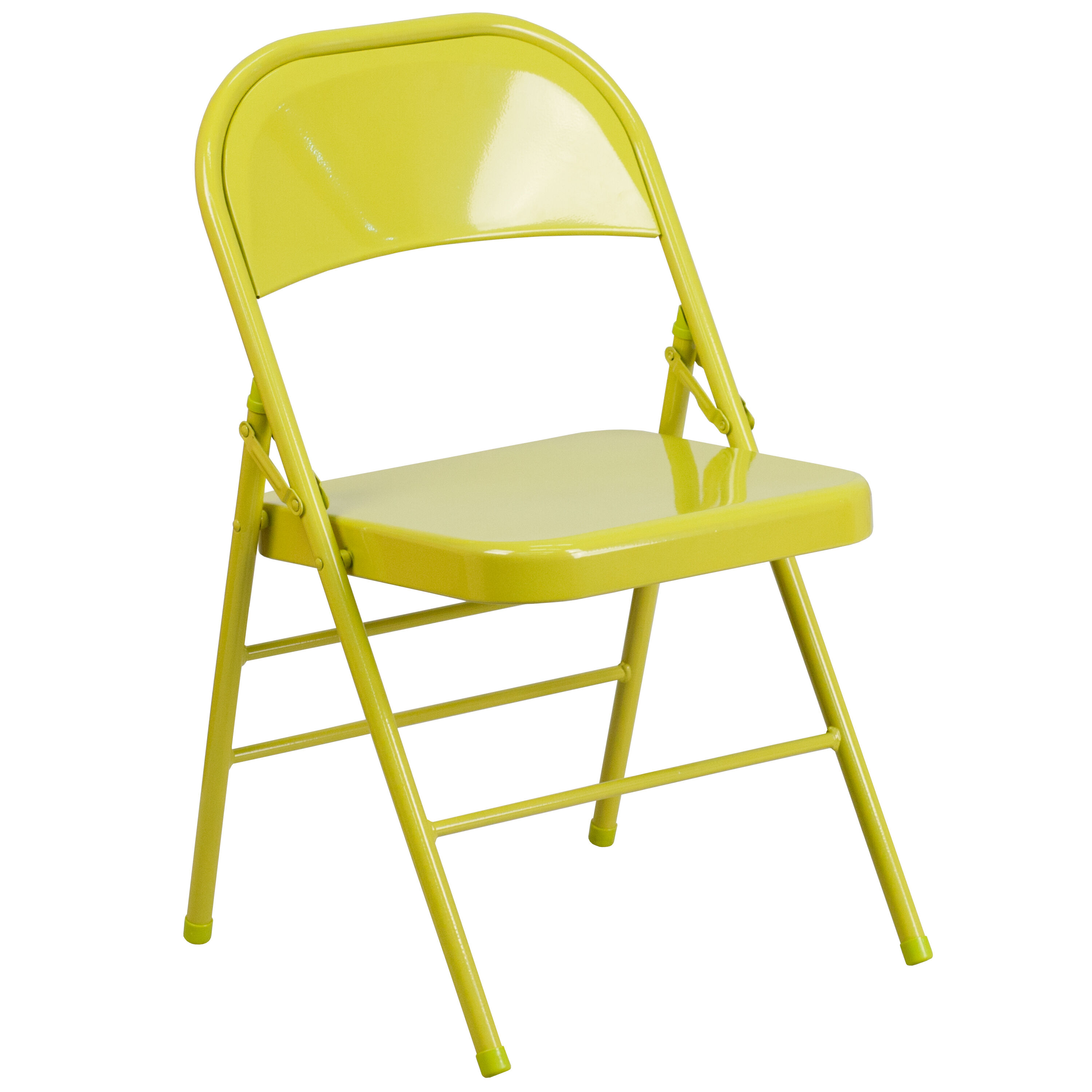 double seat folding chair best sleeper and a half twisted citron hf3 gg churchchairs4less com our hercules colorburst series triple braced hinged metal is on