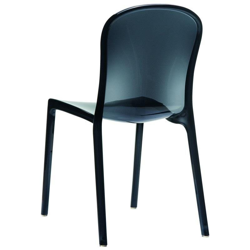 see through dining chairs tulip chair cushion compamia victoria modern outdoor polycarbonate stackable