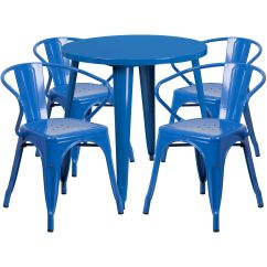 Blue Metal Chairs Bedroom Chair Fluffy 30rd Set Ch 51090th 4 18arm Bl Gg