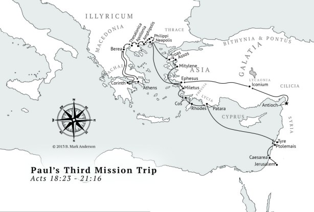 Paul's Third Missionary Journey Map - Local Churches Global Apostles