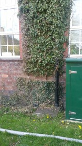 Evidence of Tolent's 'Enabling' work to dismantle the Church High ivy cross.
