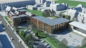 EWA architect's visualisation of the new extension to be built on the Junior School footprint.