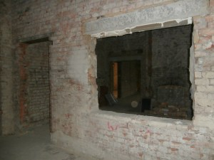 Looking through Reception into the old School Office and the Headmistress' Office beyond that.