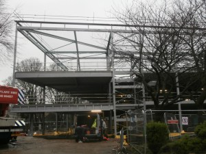 The New Build steel structure which 'saw in' the New Year complete.