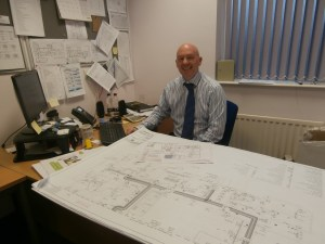 Alan Younger, pictured with the plans for the Tankerville Site renovations.