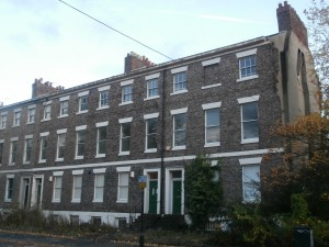 Three of the original houses on Jesmond Road still survive today, Numbers 56, 58 and 60. (The remaining evidence of Number 54, now demolished, can just be seen to the right of the picture behind the tree).
