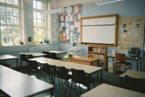 Room 5, my classroom on the main corridor in 2003.