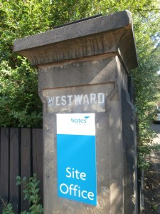 Westward House: Wates' Site Office, latterly the Church High Music School.