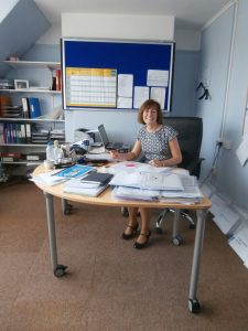 Deputy Head, Alison Roe, in her office in July 2014.