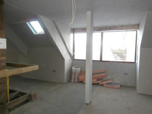 The second dormer window area on the top floor now.