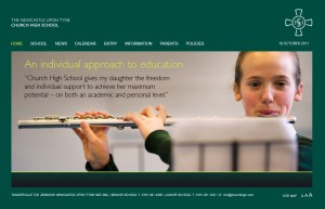 The last incarnation of the Church High website.