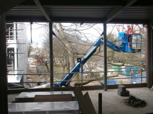 My first view of the new extension from within the building.
