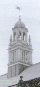 Bell tower detail, c 1910.