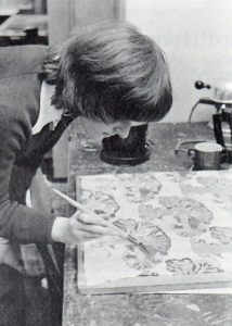 Art and Textiles rooms in Gurney House as depicted in the 1985 Church High School prospectus. Note picture of Miss Gurney on the wall.