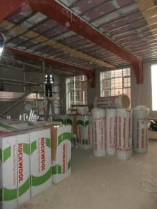 The LRC is full of rolls of Rockwool insulation.
