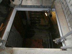 The lift shaft is also in the new circulation area.