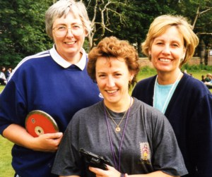 Dorothy Chipchase (left) in 1998 with Sandra Barnett and Mary Johnson.