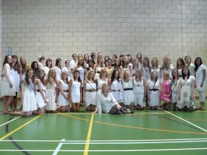 Myself as Head of Year with the 2009 Y11 Leavers.