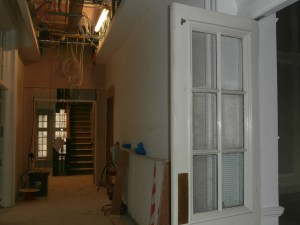 New fire-doors will soon be installed at the north end of the corridor.