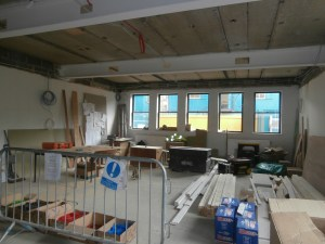 The end Chemistry Lab is in 'workshop mode' at present but the Prep Room is now nearly transformed.