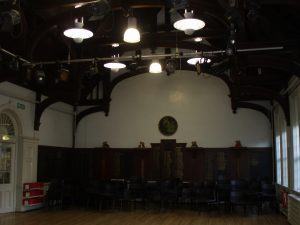 Most recently, the walls of the Hall have been painted white.