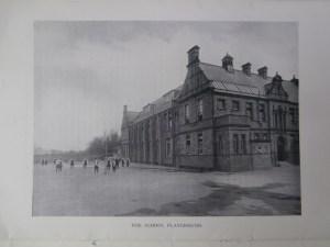 Leeson's dormer windows visible in the west roofline of Newcastle High School c1910