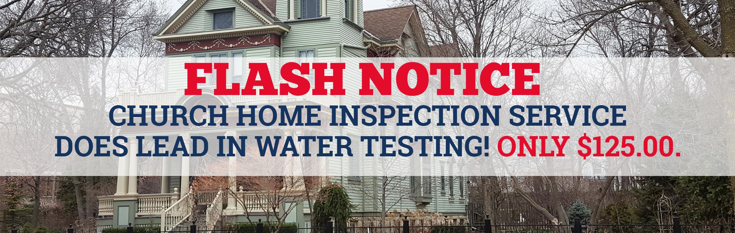 Lead in Water testing Milwaukee