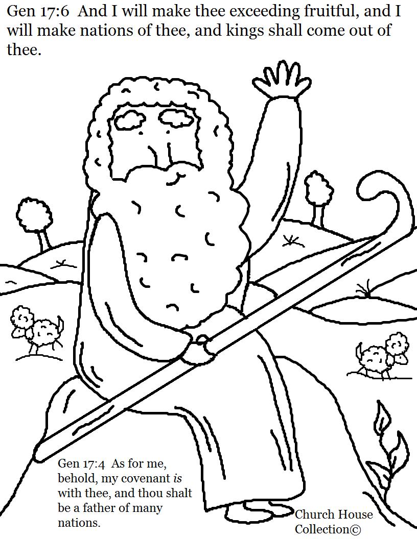 Abraham Coloring Page Genesis 17:6
