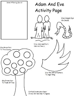Free Adam and Eve Sunday School Lessons for Kids