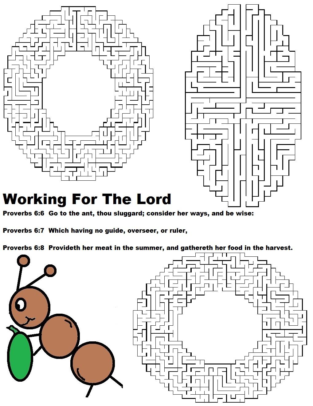 Labor Day Sunday School Lesson